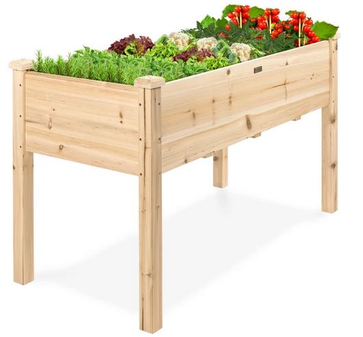 Raised Garden Bed, Elevated Wood Garden Planter Stand