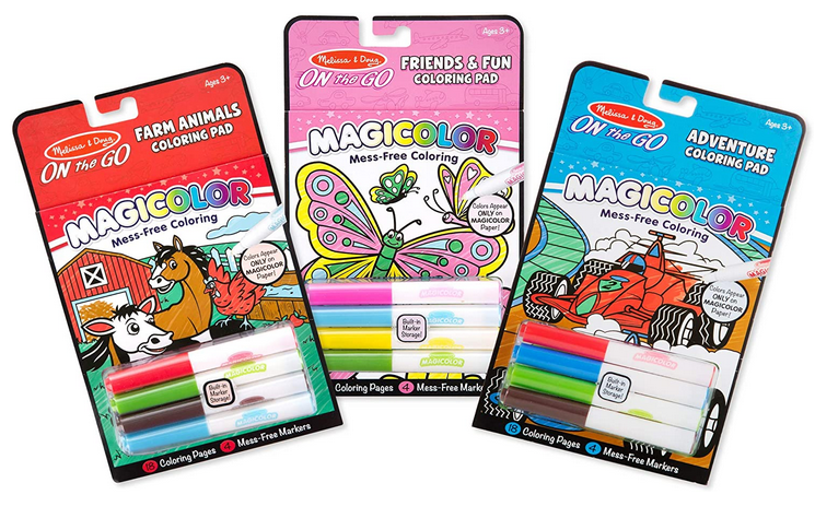 Melissa & Doug On the Go Magicolor Coloring Books Set