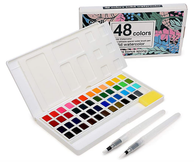 Portable Watercolor Paints Kit