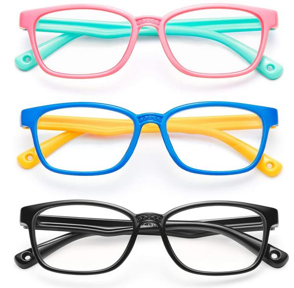 Blue Light Blocking Glasses for Kids 3 Pack