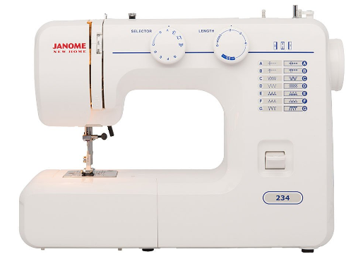 White Janome 234 Mechanical Sewing Machine