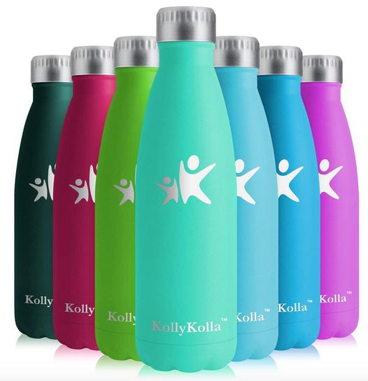 KollyKolla Vacuum Insulated Stainless Steel Water Bottle