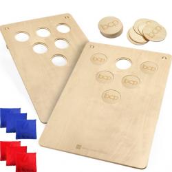 2-In-1 Cornhole Board Game Set