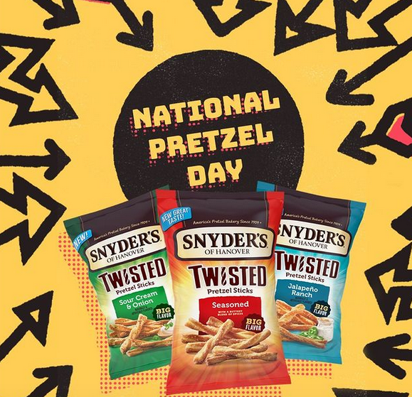 Snyder's Pretzels Instagram Sweepstakes (Today Only – 1,000 Winners!)