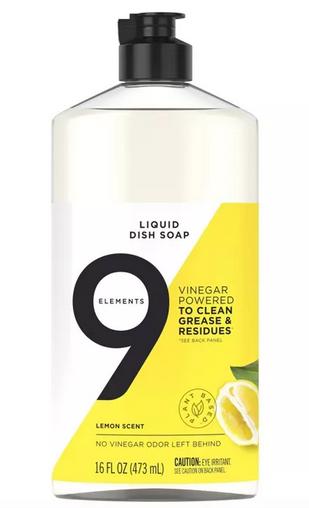 9 Elements Liquid Dish Soap