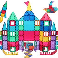 Manve Magnetic Blocks Tiles Toy, 130 PCS