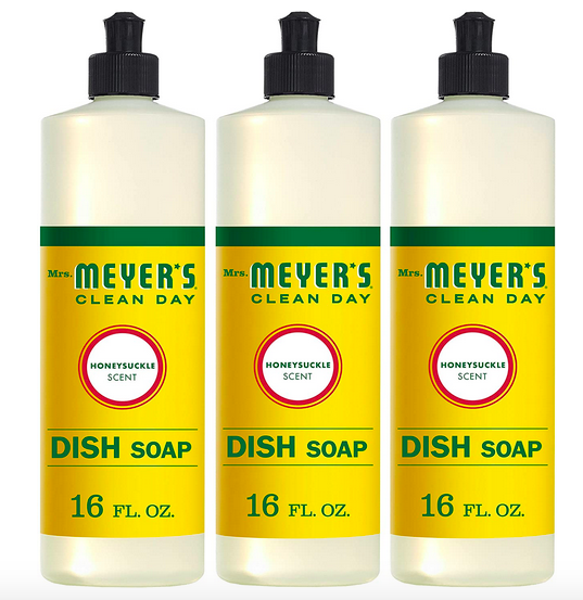 Get three Mrs. Meyer's Clean Day Honeysuckle Scent Dish Soaps for just $2.91 each, shipped!