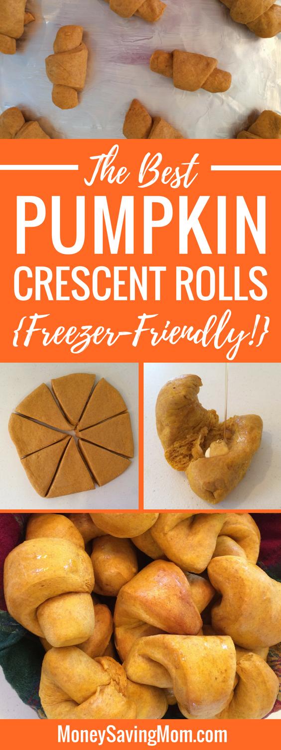 the BEST pumpkin crescent rolls