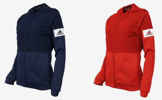 Adidas Women's Full Zip Hooded Jacket