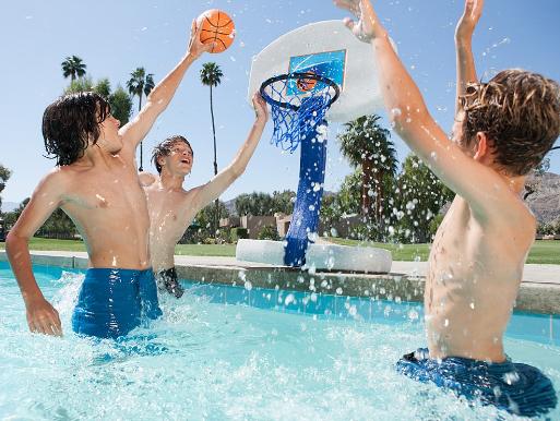 Pool Basketball & Volleyball Set