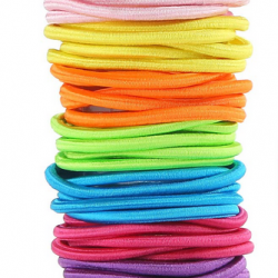 Facai Elastics Hair Ties 45Pcs Rainbow Ponytail Holder