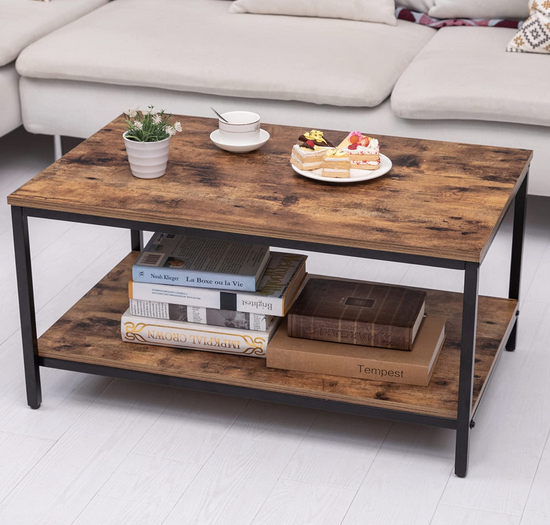 Coffee Table with Metal Frame