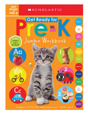 Scholastic Early Learners Get Ready for Pre-K Jumbo Workbook