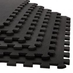 Black 0.38'' Interlocking Foam Floor Mat