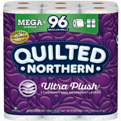 Quilted Northern Ultra PlushToilet Paper, 24 Mega Rolls