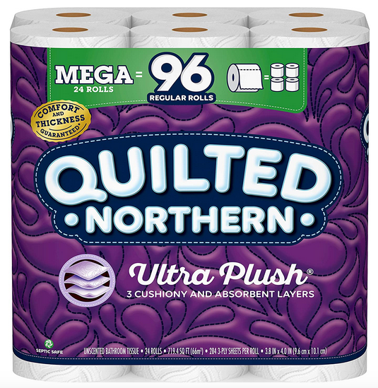 Quilted Northern Ultra PlushToilet toilet paper, 24 large rolls