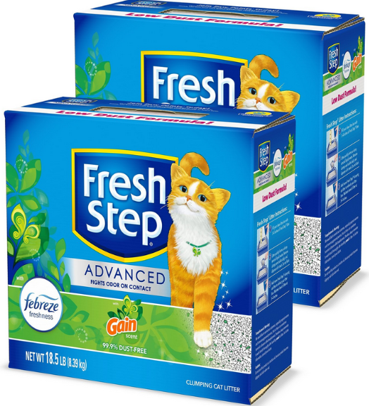 6 Fresh Step Advanced Cat Litter 18.5lb Boxes Only $34 Shipped