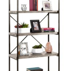 5-Tier Industrial Bookshelf w/ Metal Frame