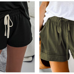 Women's Drawstring Pocket Shorts