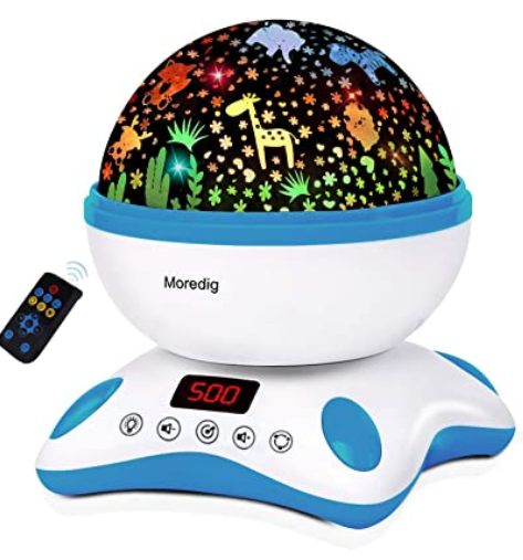 Moredig Baby Projector with Timer and Remote