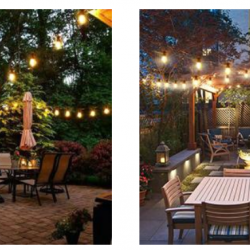 DGE Outdoor LED String Lights 48FT Patio String Light