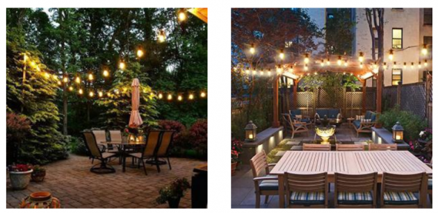 DGE Outdoor LED String Lights 48FT Patio String Light