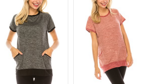 Women's Pocket Tees only $7.99 + shipping!