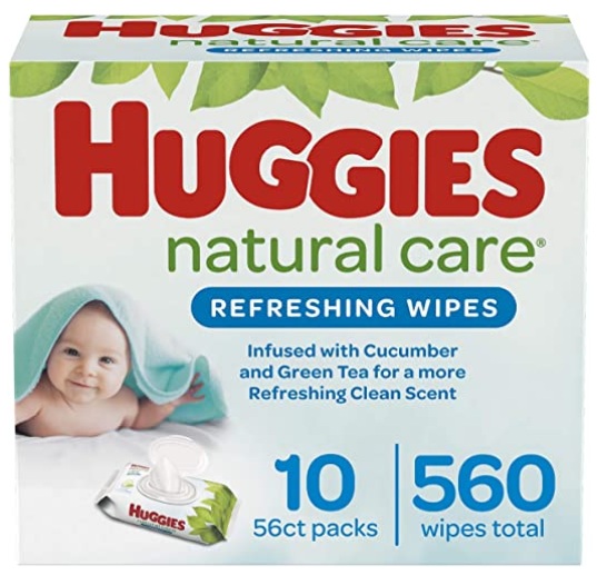 Huggies Natural Care Refreshing Baby Wipes, Scented