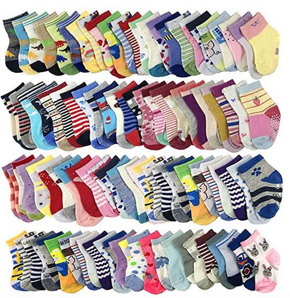 20 Pairs Baby Socks Wholesale for Infant Toddler Kids Children