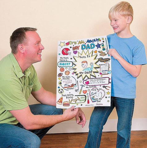 Large Fill In Father's Day Coloring Poster