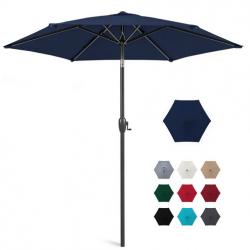 7.5ft Outdoor Market Patio Umbrella w/ Push Button Tilt, Crank Lift