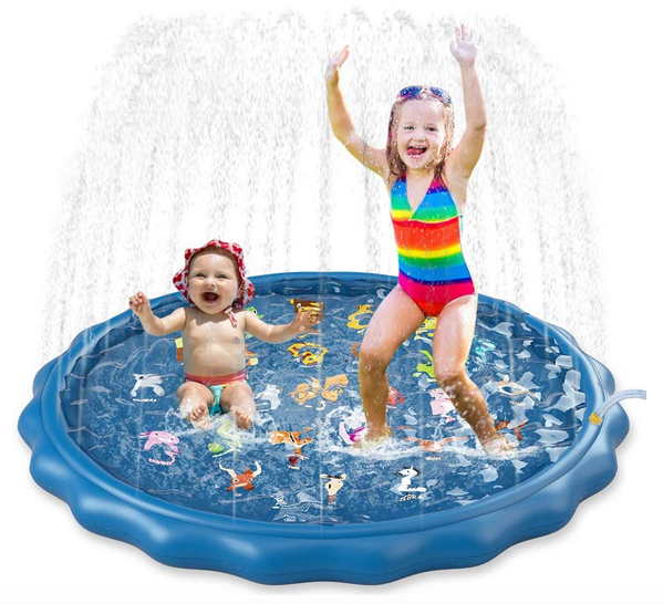 Jasonwell Sprinkler Splash Pad Play Mat