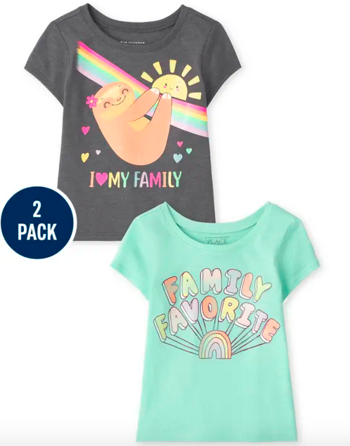 The Children's Place Tees 2-Packs from $3.79 Shipped