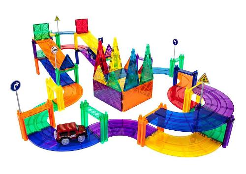 Race Track 80-Piece Magnetic Building Block Set