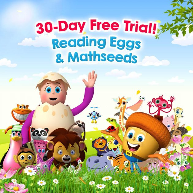 free trial of Reading Eggs app
