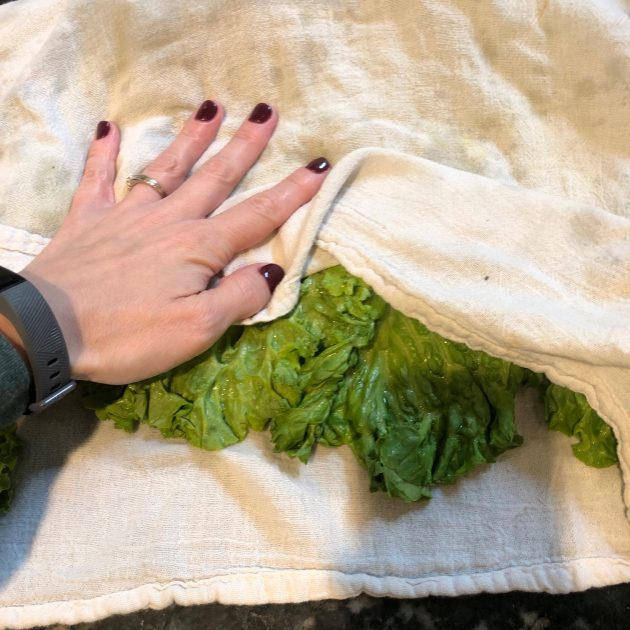how to dry off lettuce to store it for the week