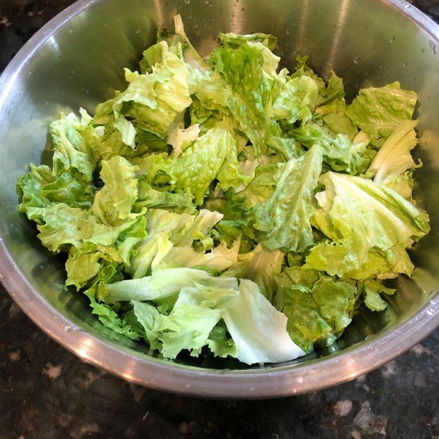 greens ready for fridge