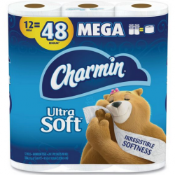 Charmin Ultra Soft Bath Tissue 12 Mega Rolls