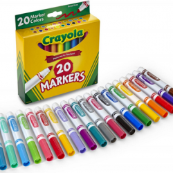 Crayola 20 Count Broad Line Classic Markers