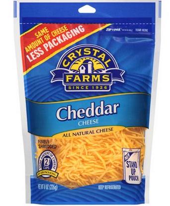Crystal Farms Cheese Shreds (8 oz)