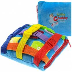 Little Chubby One Sensory Dino Square Buckle Pillow