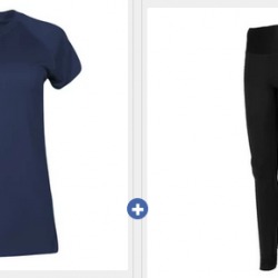 Champion Women's Short Sleeve Shirt + Absolute Tights Sets