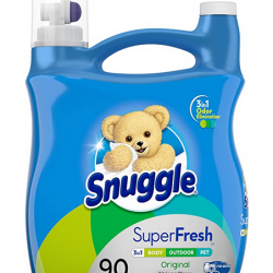 Snuggle Plus Super Fresh Liquid Fabric Softener with Odor Eliminating Technology, 95 Fluid Ounces