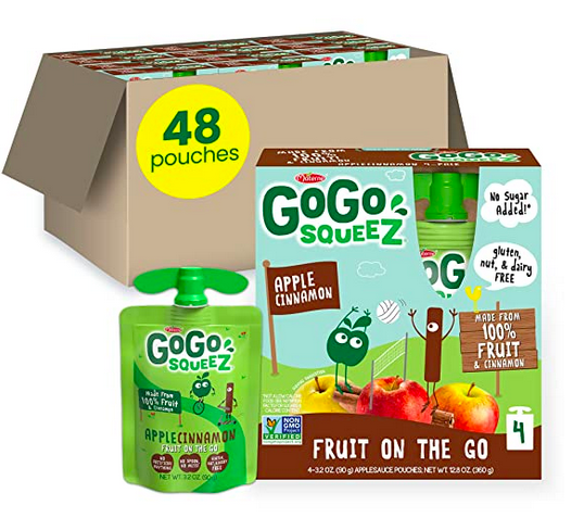 GoGo squeeZ Fruit on the Go, Apple Cinnamon