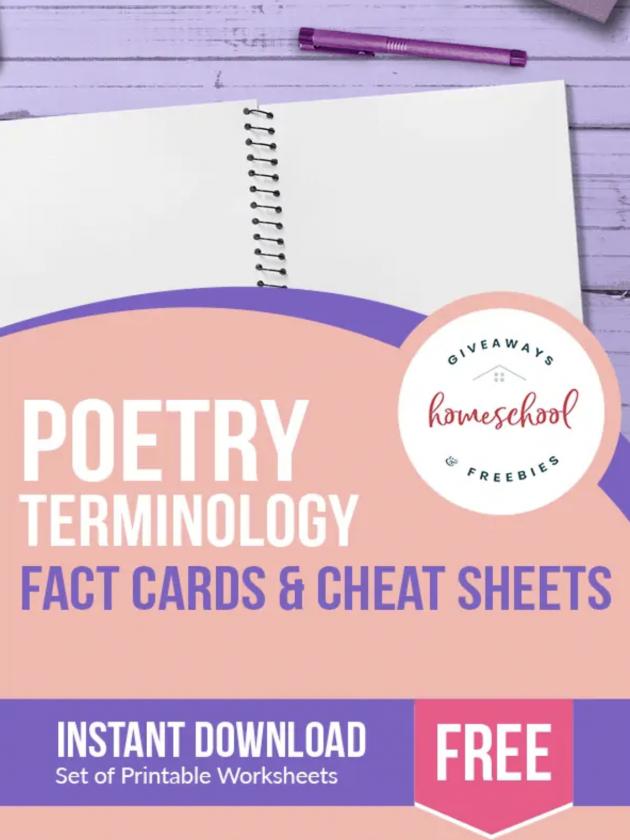 free poetry terminology homeschool curriculum