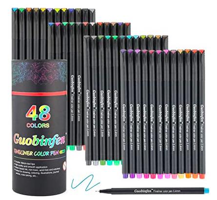 Fineliner Color Pens, 48 Colors