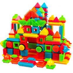 PicassoTiles 240-Piece Bristle Shape Blocks Set