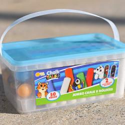 50-Piece Sidewalk Chalk Bucket