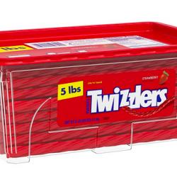 TWIZZLERS Twists Strawberry Flavored Chewy Candy, Bulk
