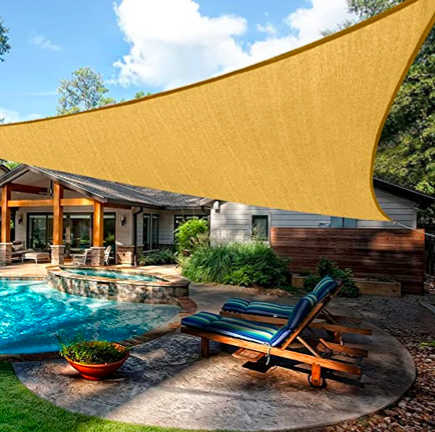 Sun Shade Sail Triangle only $21.58, plus more!